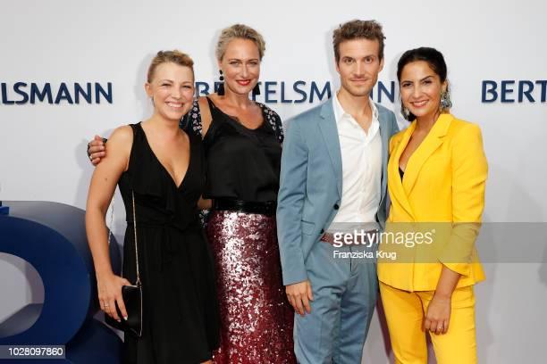 Iris Mareike Steen Eva Mona Rodekirchen Thaddaeus Meilinger and Chryssanthi Kavazi attend the Bertelsmann Summer Party at Bertelsmann Repraesentanz...