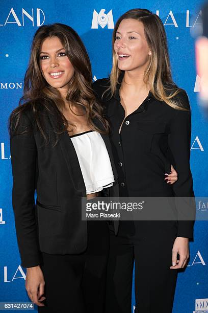 Iris Mittenaere and Camille Cerf attend 'La La Land' premiere at Cinema UGC Normandie on January 10 2017 in Paris France