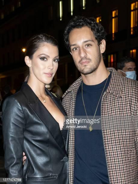 Iris Mittenaere and Diego El Glaoui attend the Etam Womenswear Spring/Summer 2021 show as part of Paris Fashion Week on September 29, 2020 in Paris,...