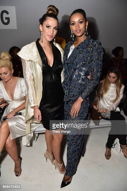 Iris Mittenaere and Kara McCullough attend Vivienne Hu fashion show during New York Fashion Week The Shows at Gallery 3 Skylight Clarkson Sq on...