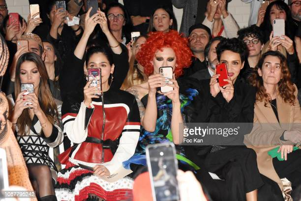 Iris Mittenaere Araya Hargate Miss Fame arida Khelfa and Mademoiselle Agnes attend the JeanPaul Gaultier Haute Couture Spring Summer 2019 show as...