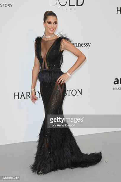Iris Mittenaere arrives at the amfAR Gala Cannes 2017 at Hotel du CapEdenRoc on May 25 2017 in Cap d'Antibes France