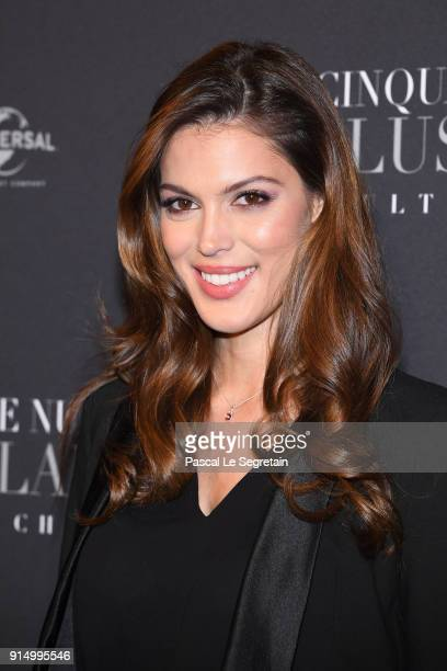 Iris Mittenaere attends 'Fifty Shades Freed 50 Nuances Plus Claires' Premiere at Salle Pleyel on February 6 2018 in Paris France