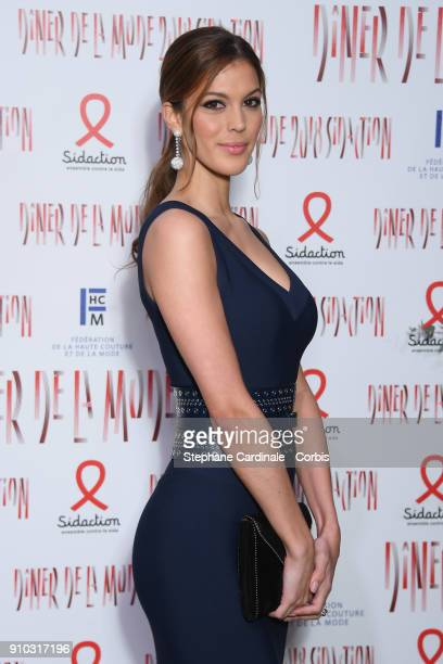 Iris Mittenaere attends the 16th Sidaction as part of Paris Fashion Week on January 25 2018 in Paris France