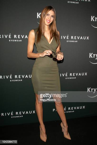 Iris Mittenaere attends the Prive Revaux Eyewear Photocall at Cafe de l'Homme as part of the Paris Fashion Week Womenswear Spring/Summer 2019 on...