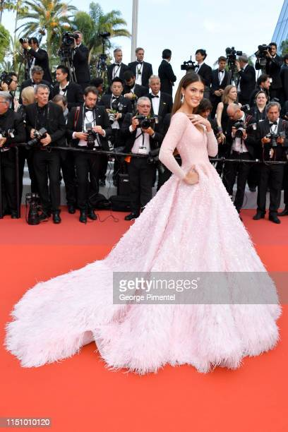 """Iris Mittenaere attends the screening of """"Oh Mercy! """" during the 72nd annual Cannes Film Festival on May 22, 2019 in Cannes, France."""