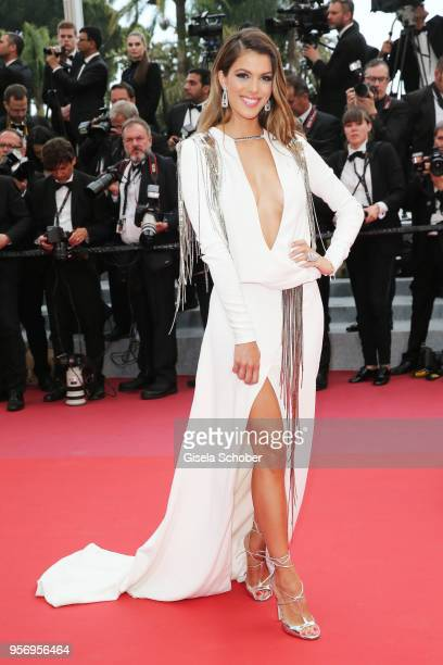 Iris Mittenaere attends the screening of 'Sorry Angel ' during the 71st annual Cannes Film Festival at Palais des Festivals on May 10 2018 in Cannes...