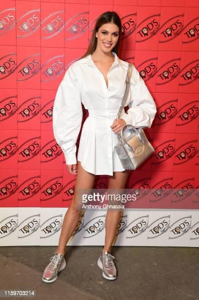 Iris Mittenaere attends Tod's X Alber Elbaz Happy Moments at Yoyo Palais De Tokyo on July 02 2019 in Paris France