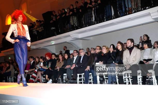 Iris Mittenaere Chompoo Araya Hargate Miss Fame Farida Khelfa Mademoiselle Agnes Boulard Emmanuelle Alt Owners of Gaultier Manuel Puig with brother...