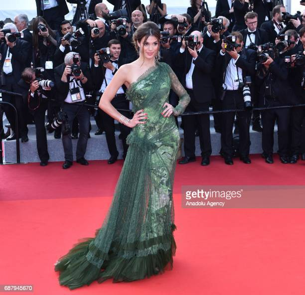 Iris Mittenaere Miss Universe 2016 arrives for the premiere of the film The Beguiled in competition at the 70th annual Cannes Film Festival in Cannes...