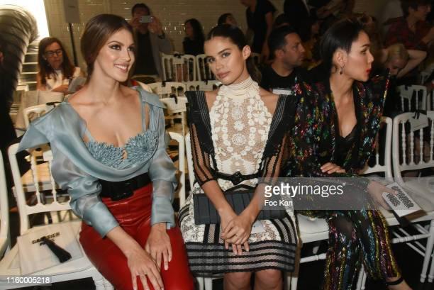 Iris Mittenaere Sara Sampaio and Araya Alberta Hargate attend the Jean Paul Gaultier Haute Couture Fall/Winter 2019 2020 show as part of Paris...