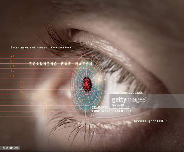 Iris Scan for Identity Confirmation