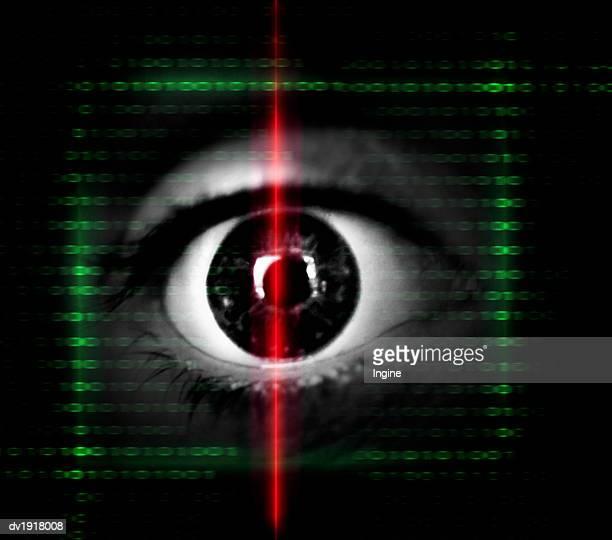 Iris Scan Scanning an Eye