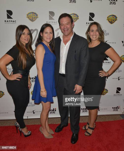 Iris Valdez, Ana Diaz, Victor Barroso and Andrea Dominguez attend the Miami Premiere of RatPac Documentary Films One Day Since Yesterday: Peter...
