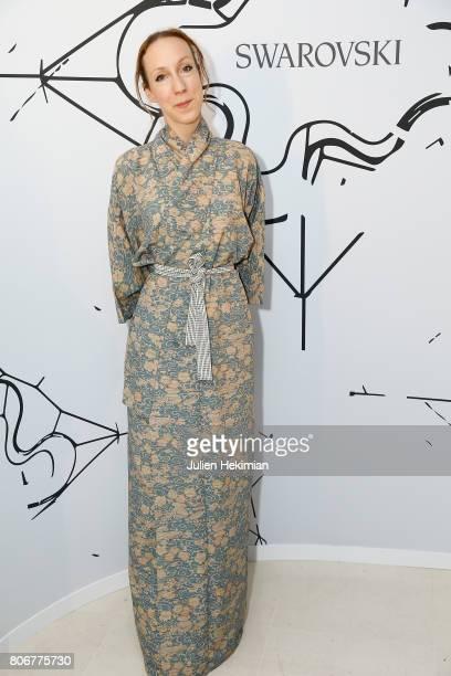 Iris Van Herpen attends the Iris Van Herpen X Swarovski Cocktail Haute Couture Fall/Winter 20172018 show as part of Haute Couture Paris Fashion Week...
