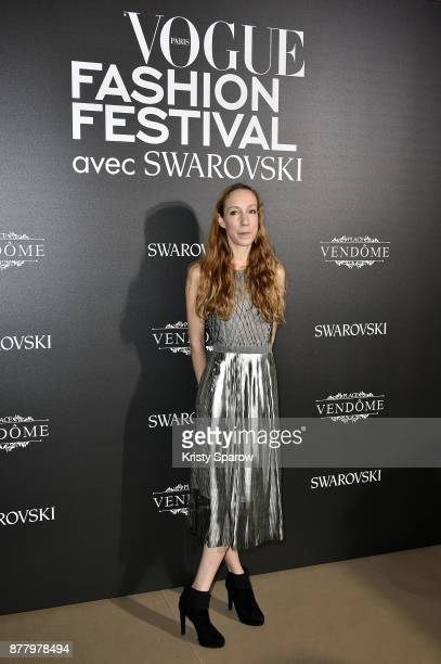 Iris Van Herpen attends the Vogue Fashion Festival 2017 Photocall at Hotel Potocki on November 23 2017 in Paris France