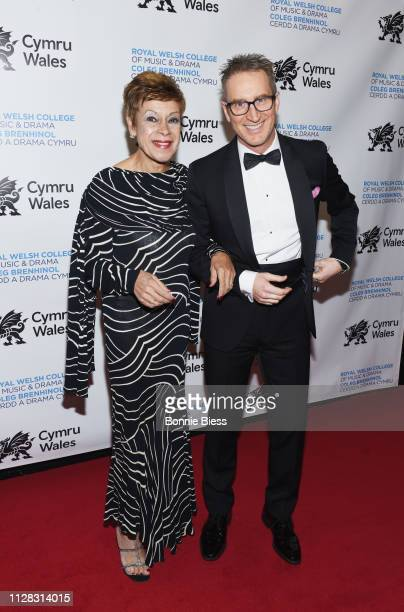 Iris Williams and Aled Miles attend The Royal Welsh College of Music Drama 2019 Gala at The Rainbow Room on March 1 2019 in New York City