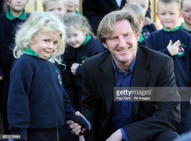 Irish actor Adrian Dunbar meets Acacia Clash at the opening of Clogher Valley Intergrated Primary School in Fivemiletown He gave a powerful...