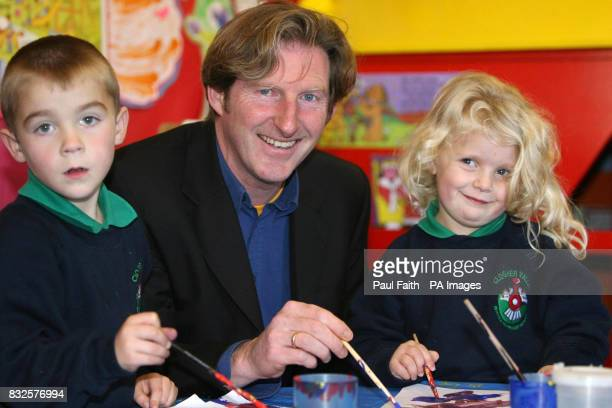 Irish actor Adrian Dunbar meets Dylan Wiggan and Acacia Clash at the opening of Clogher Valley Intergrated Primary School in Fivemiletown He gave a...