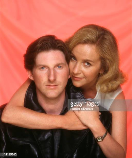 Irish actor Adrian Dunbar with actress Ingrid Lacey in a publicity shot for the television series 'A Woman's Guide to Adultery' 1993