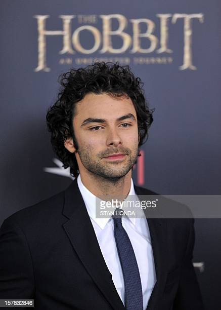 Irish actor Aidan Turner arrives at the US premiere of 'The Hobbit An Unexpected Journey' December 6 2012 at the Ziegfeld Theatre in New York AFP...