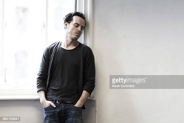 Irish actor Andrew Scott portrait Waterloo London United Kingdom 28th January 2015