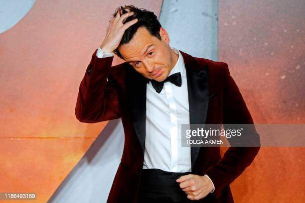 Irish actor Andrew Scott poses on the red carpet as he arrives to attend the World premiere and Royal Film Performance of the film 1917 in London on...