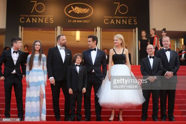 Irish actor Barry Keoghan British actress Raffey Cassidy Greek director Yorgos Lanthimos US actor Sunny Suljic Irish actor Colin Farrell Australian...