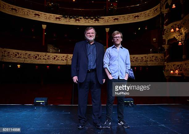 Irish actor Brendan Gleeson pictured with his son Brian Gleeson as Brendan announces details of an exciting new project a strictly limited fourweek...