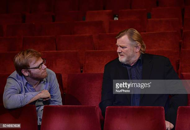 Irish actor Brendan Gleeson pictured with his son Domhnall Gleeson as Brendan announces details of an exciting new project a strictly limited...