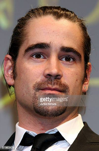 Irish actor Colin Farrell attends a press conference ahead of the Japananese premiere of 'Alexander' on January 14 2005 in Tokyo Japan The film opens...