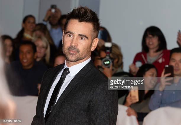Irish actor Colin Farrell attends the premiere of 'Widows' at the Toronto International Film Festival in Toronto Ontario September 8 2018