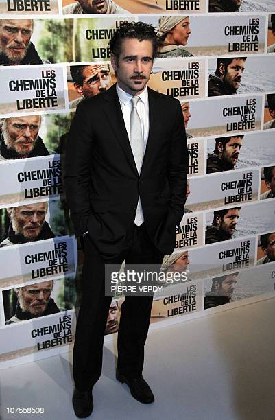 Irish actor Colin Farrell poses during the photocall of Australian film director Peter Weir's movie The Way Back Les chemins de la liberte on...