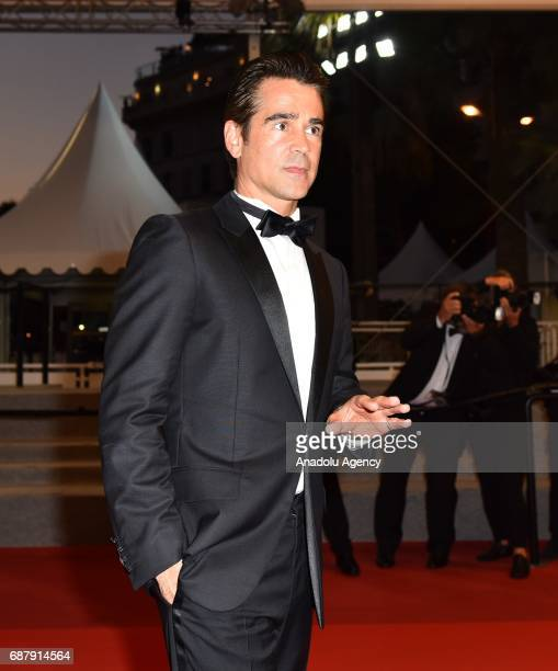 Irish actor Colin leaves after the premiere of the film The Beguiled in competition at the 70th annual Cannes Film Festival in Cannes France on May...