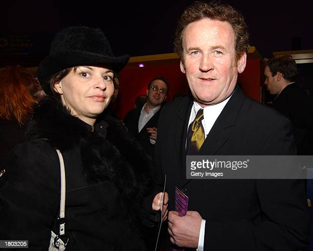 Irish actor Colm Meaney and Ines Glorian attend the premiere of the Neil Jordan's film The Good Thief at UGC February 18 2003 in Dublin Ireland