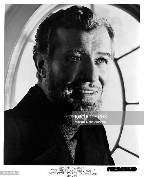 Irish actor Edward Mulhare poses for a portrait as Capt Daniel Gregg in The Ghost Mrs Muir in circa 1968