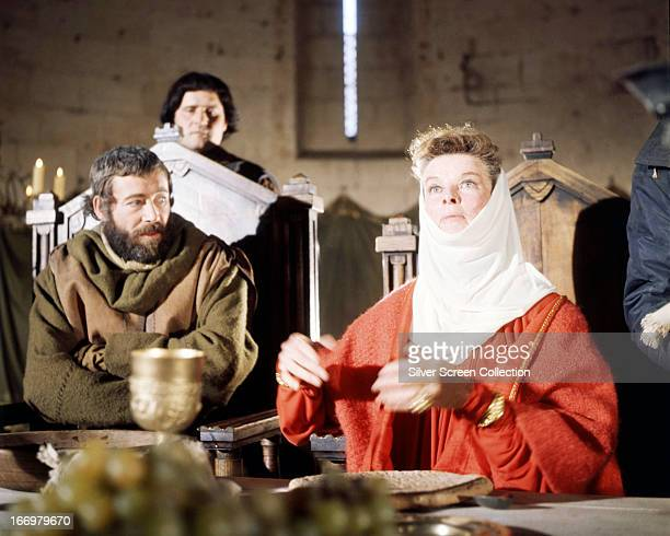 Irish actor Peter O'Toole as King Henry II and American actress Katharine Hepburn as Queen Eleanor of Aquitaine in 'The Lion In Winter' directed by...