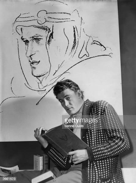 Irish actor Peter O'Toole studying for his role in Lawrence of Arabia