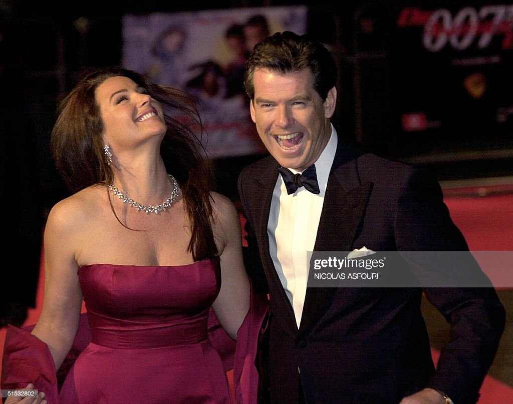 Irish actor Pierce Brosnan (R) and his wife Keely Pictures ...
