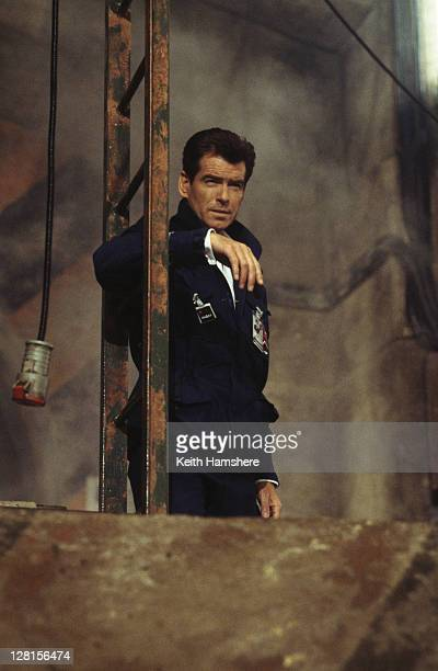 Irish actor Pierce Brosnan as 007 in the James Bond film 'The World Is Not Enough' 1999 Here he poses as a Russian scientist in order to visit a...
