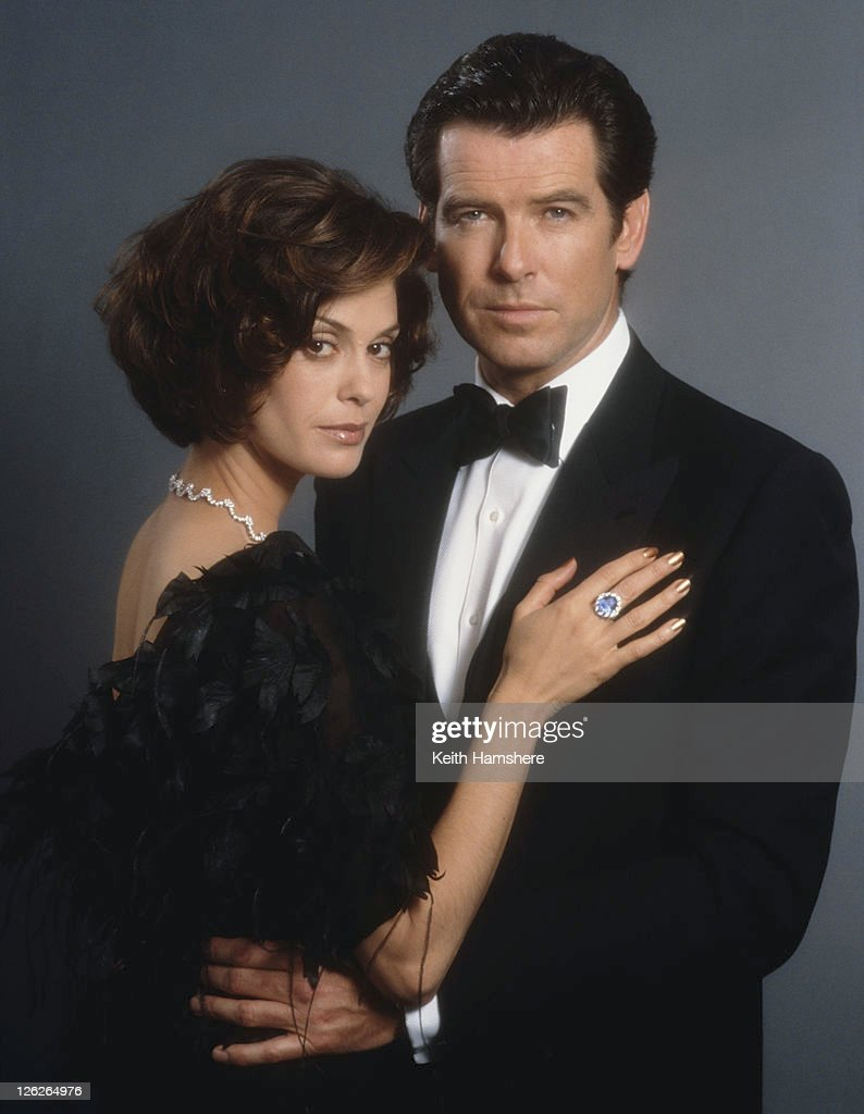 Irish actor Pierce Brosnan stars as 007 opposite actress Teri Hatcher as Paris Carver in the James Bond film 'Tomorrow Never Dies' 1997.