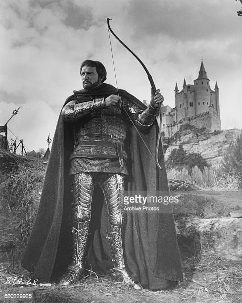 Irish actor Richard Harris as King Arthur in the HBO broadcast of 'Camelot' 1982