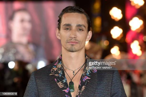 Irish actor Robert Sheehan poses upon arrival to attend the World Premiere of the film Mortal Engines in London on November 27 2018