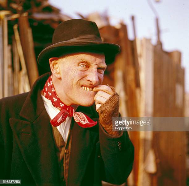 Irish actor Wilfrid Brambell pictured in character as Albert Steptoe from the television sitcom Steptoe and Son in 1964