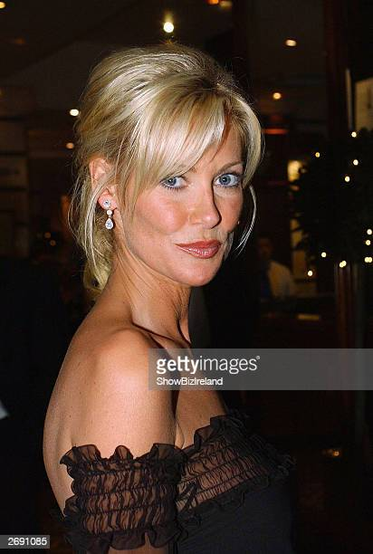 Irish actress Alison Doody O'Reilly attends the Irish Film and Television Awards at the Burlington Hotel on November 1 2003 in Dublin Ireland