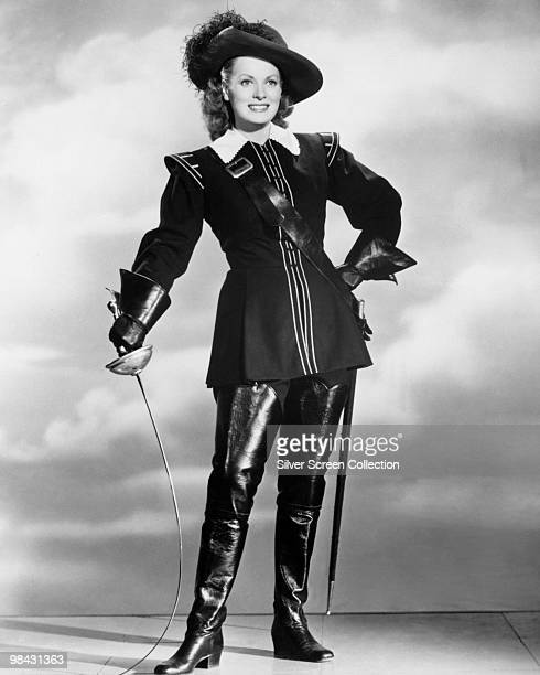 Irish actress Maureen O'Hara plays Claire the daughter of Athos in 'At Sword's Point' 1952