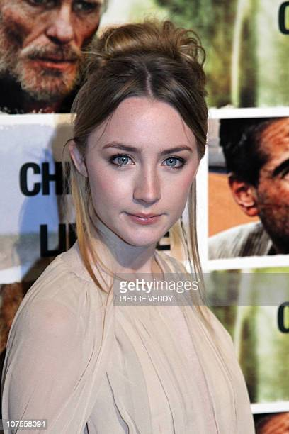 Irish actress Saoirse Ronan poses during the photocall of Australian film director Peter Weir's movie The Way Back on December 13 2010 at the French...