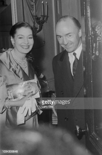 Irish actress Valerie Hobson with her husband Conservative Party politician John Profumo at their home UK 15th March 1963