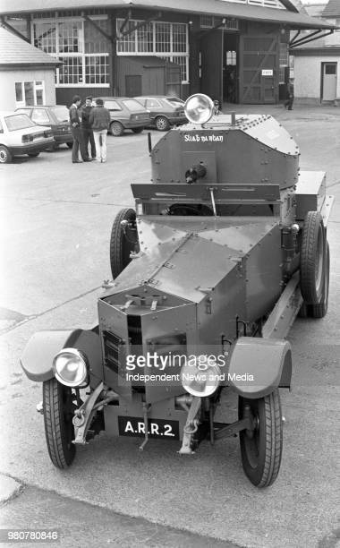 Irish Army Cavalry Corps workshop Michael Collins' RollsRoyce Armoured Car in the Curragh Kildare
