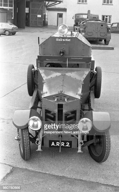 Irish Army Cavalry Corps workshop, Michael Collins' Rolls-Royce Armoured Car in the Curragh, Kildare, .